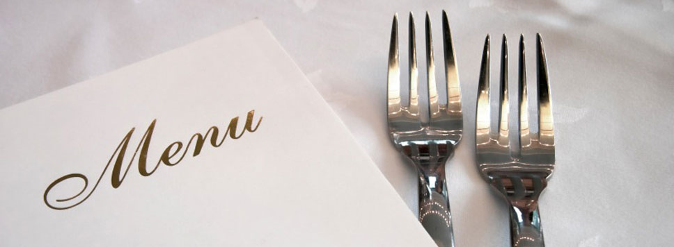two forks and menu